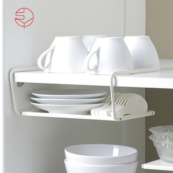 【日本霜山】兩用廚櫃下/桌面分層置物金屬收納架-白單一規格