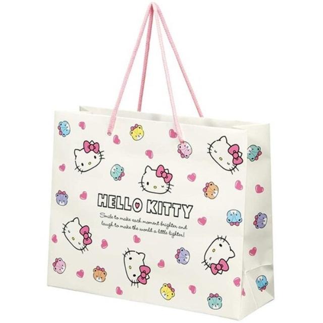 Hello Ktity 橫式方形手提紙袋 中提袋 禮物紙袋 包裝紙袋 禮品袋