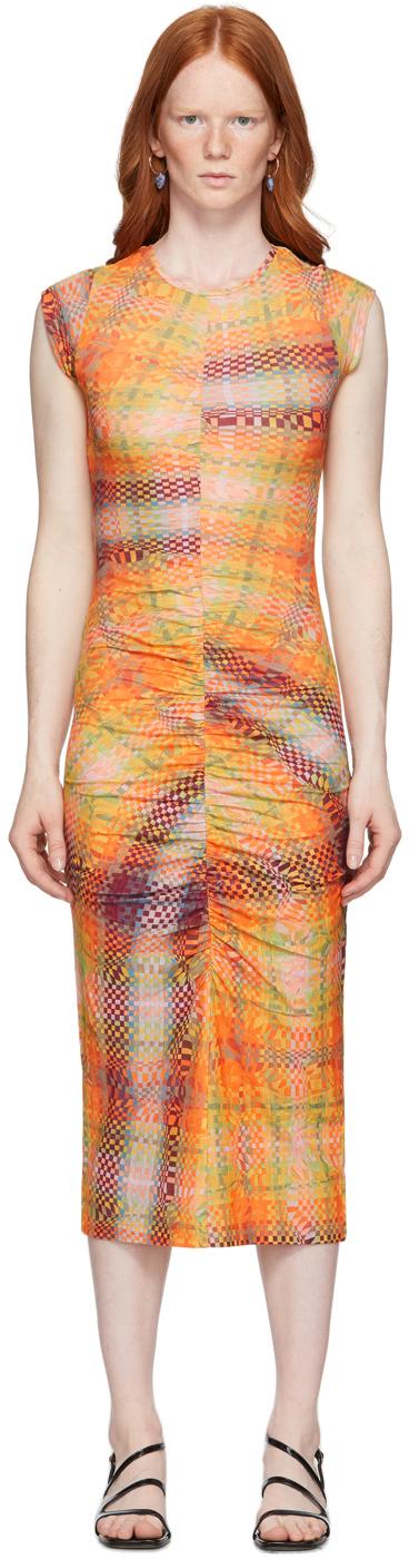 Paloma Wool 橙色 Campo 有机棉连衣裙