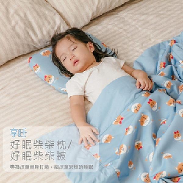 【Prodigy 波特鉅】抗菌好眠柴柴小枕(立體調適枕)柴柴藍-小枕
