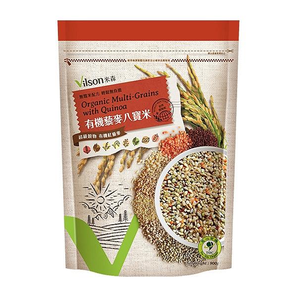 (3包特惠) 米森 有機藜麥八寶米 900g/包
