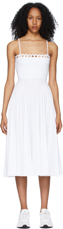 RED Valentino 白色 Scalloped 连衣裙