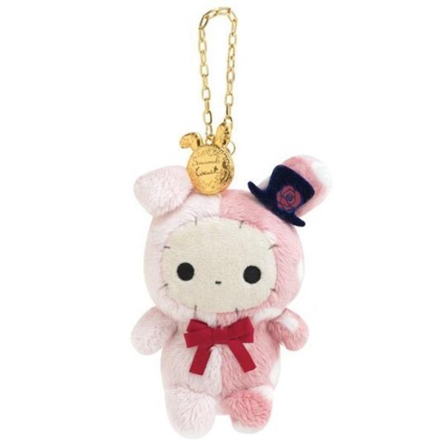憂傷馬戲團 絨毛吊飾 玩偶吊飾 玩偶鑰匙圈 (粉米 玫瑰帽)