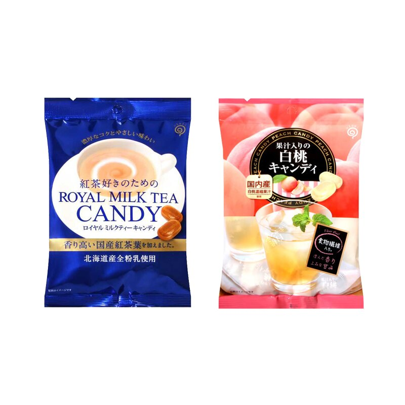 【豆嫂】日本零食 鈴木榮光堂 日東紅茶風味糖(皇家奶茶/白桃)
