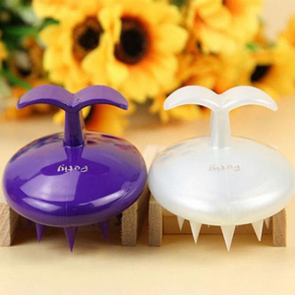 【寵物貴族】彈性矽膠SPA寵物按摩刷/按摩梳/寵物沐浴刷(給毛小孩頂級紫色