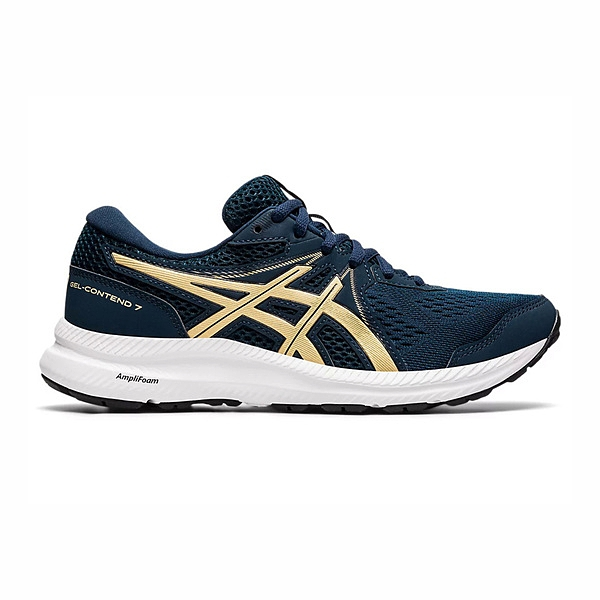 Asics Gel-contend 7 (d) [1012A910-401] 女鞋 慢跑鞋 運動 休閒 輕量 深藍 金