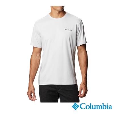 Columbia 哥倫比亞 男款- UPF50酷涼快排短袖上衣-灰色 UAE08090GY