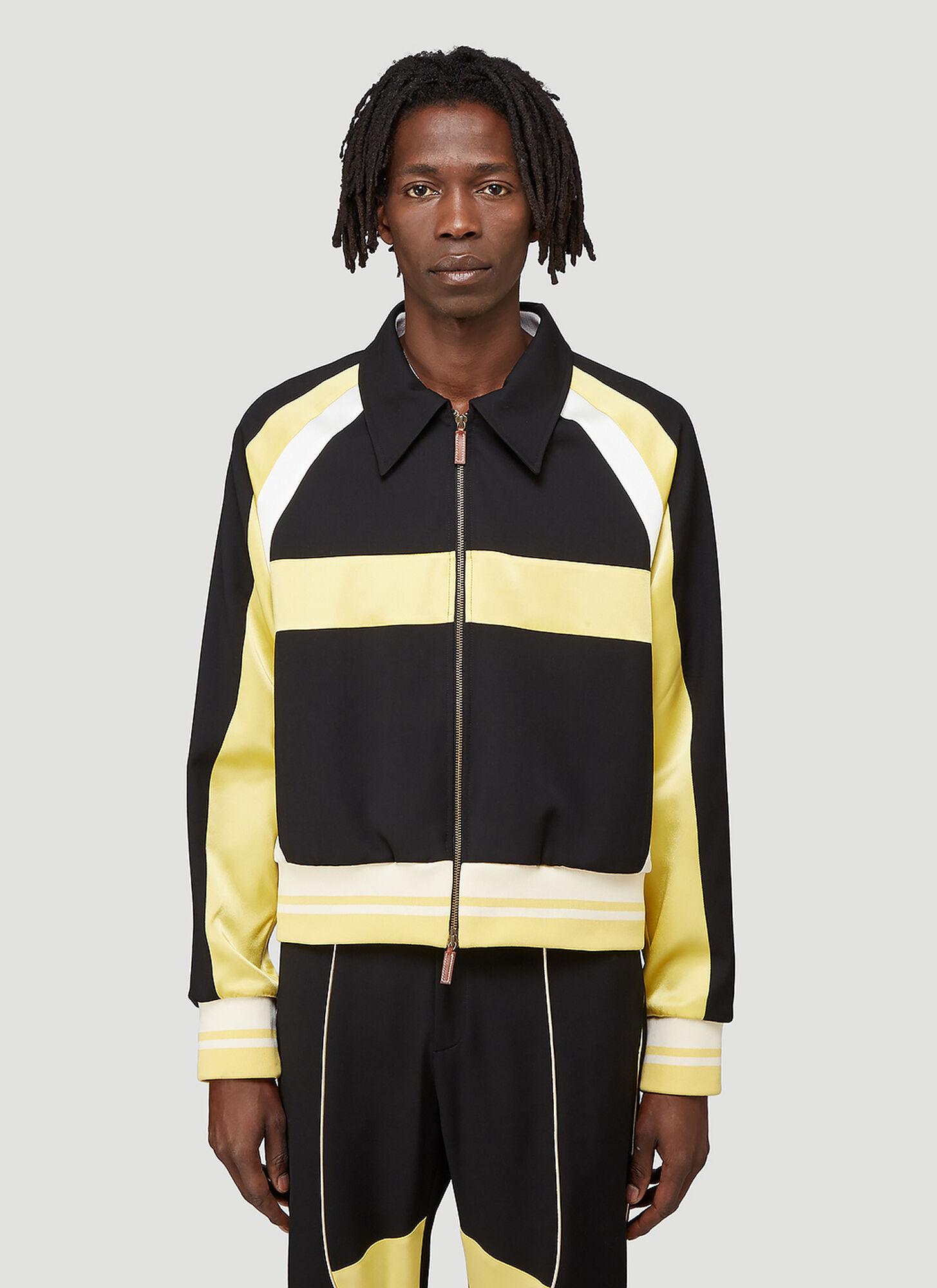 male Black 100% Wool. Dry clean.
