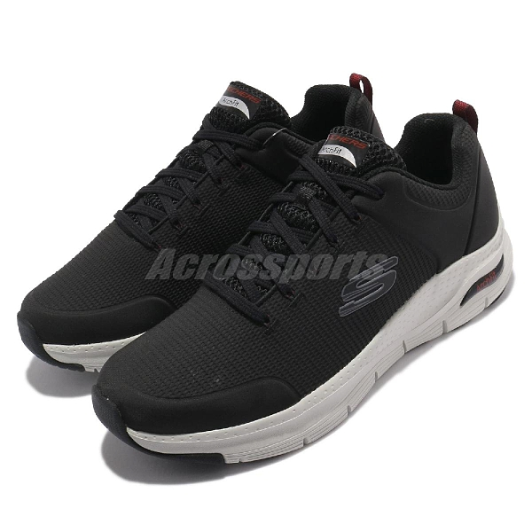 Skechers 健走鞋 Arch Fit Titan 男鞋 黑 白 足科醫生推薦 運動鞋【ACS】 232200BKW