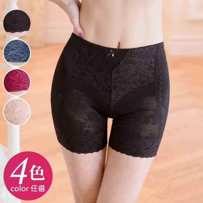 【伊黛爾】280丹MIT繡花蕾絲高彈力美臀雕塑褲M-XXL (4色任選)-【115】