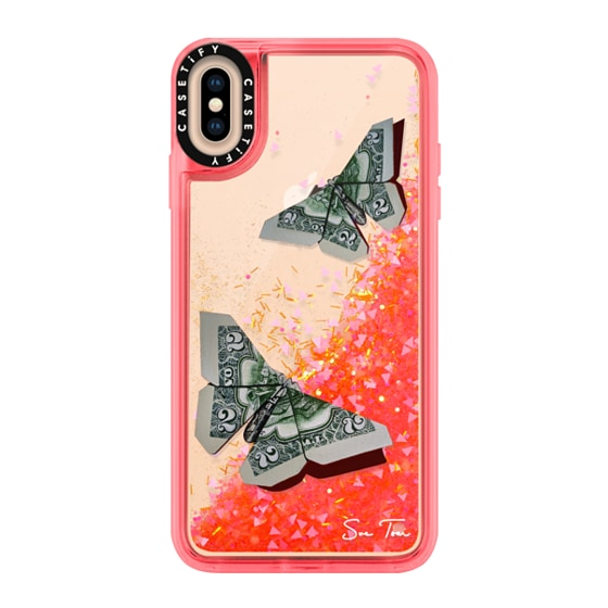 CASETiFY iPhone Xs Max Glitter Case - MONEYFLY IPHONE CASE BY SUE TSAI