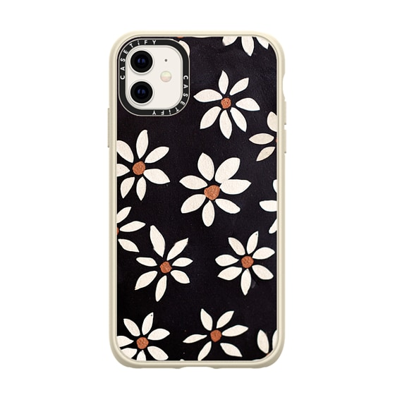 CASETiFY iPhone 11 Casetify Black Impact Resistance Case - DARK FLOWERS by IVY WEINGLASS