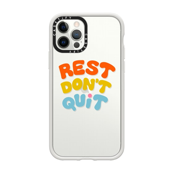 CASETiFY iPhone 12 Pro Impact Case - REST DON'T QUIT by Oh So Graceful