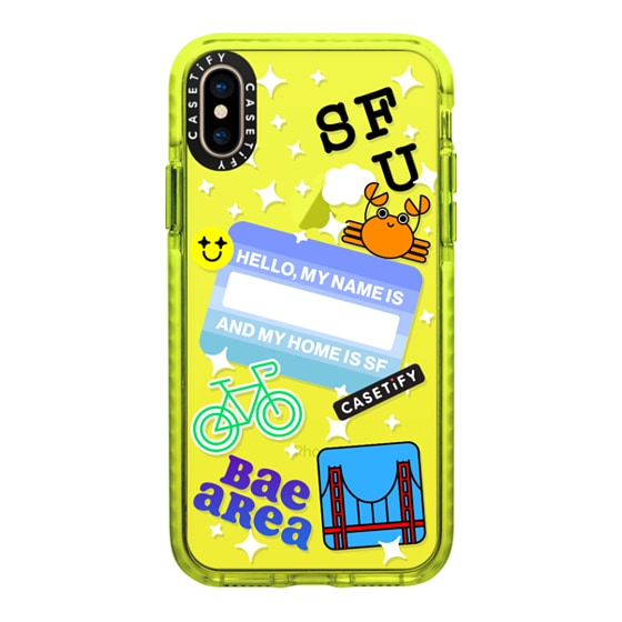 CASETiFY iPhone Xs Impact Case - SF IS MY HOME