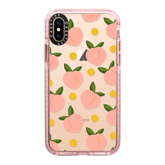 CASETiFY iPhone Xs Impact Case - Peachy - clear case