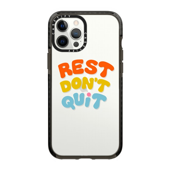 CASETiFY iPhone 12 Pro Max Impact Case - REST DON'T QUIT by Oh So Graceful