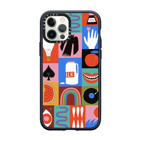 CASETiFY iPhone 12 Pro Casetify Black Impact Resistance Case - Not So Ordinary Things By Lisa Congdo