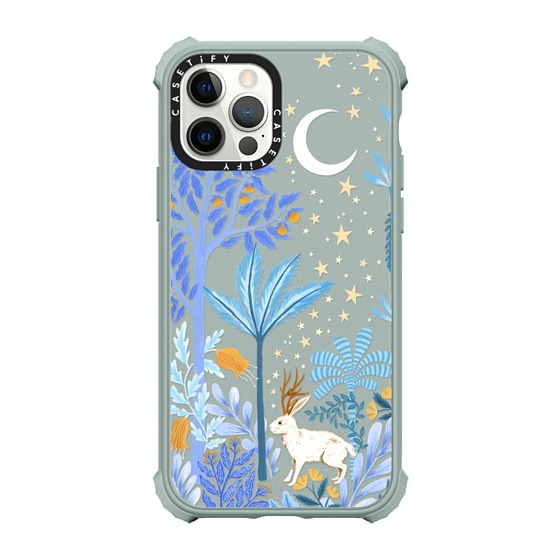 CASETiFY iPhone 12 Pro Ultra Impact Case - Jackalope Mythical Moon by Papio Press