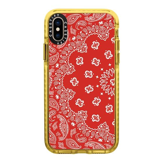 CASETiFY iPhone Xs Impact Case - BANDANA PAISLEY RED