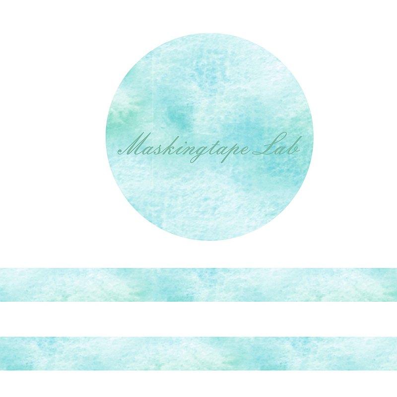 水彩系列紙膠帶-藍綠