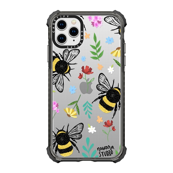 CASETiFY iPhone 11 Pro Max Ultra Impact Case - Bees In Love