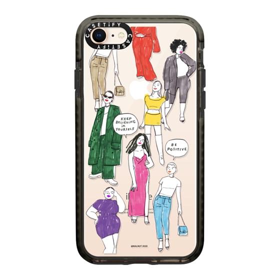 CASETiFY iPhone 8 Impact Case - WALNUT- Fashion Girls