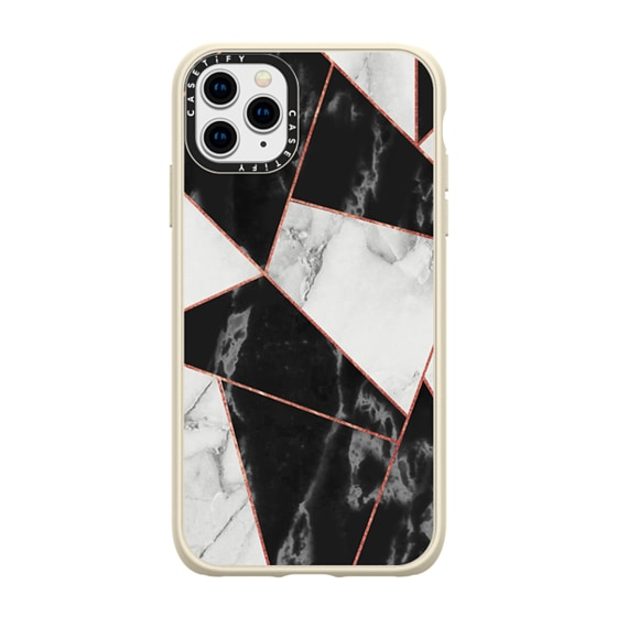 CASETiFY iPhone 11 Pro Max Casetify Black Impact Resistance Case - marble037
