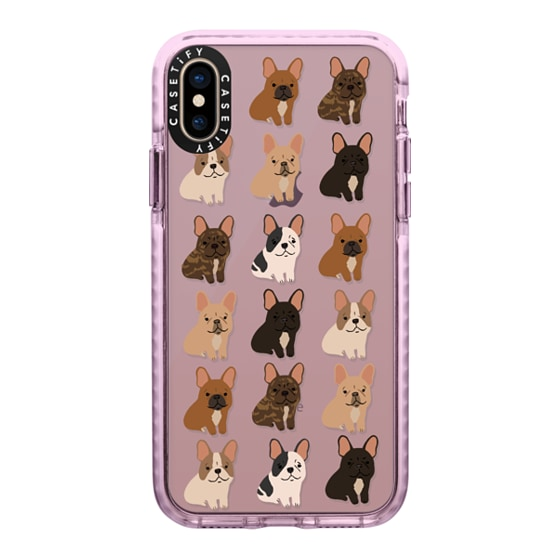 CASETiFY iPhone Xs Impact Case - Frenchie Puppies Stickies