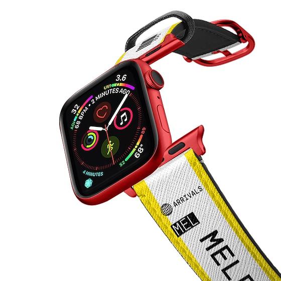 CASETiFY Apple Watch Band (38mm/40mm) Saffiano Leather Watchband V4 - PP-0005 - Melbourne MEL