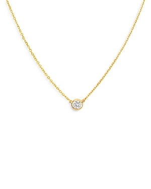 Bloomingdale's Diamond Bezel Solitare Necklace in 14K Yellow Gold, 0.05 ct. t.w. - 100% Exclusive