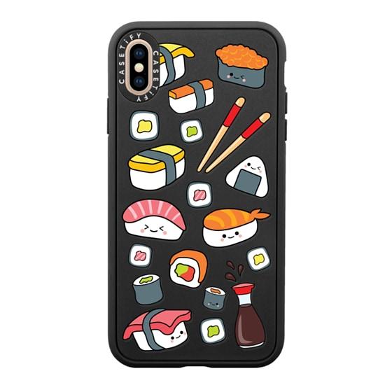 CASETiFY iPhone Xs Max Casetify Black Impact Resistance Case - SUSHI