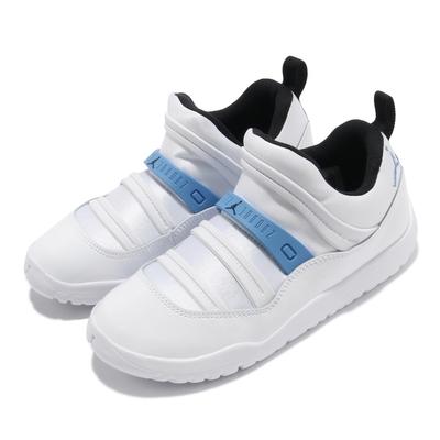 Nike 休閒鞋 Jordan 11 Retro 運動 童鞋 喬丹 襪套 舒適 簡約 輕便 中童 白 藍 BQ7101114