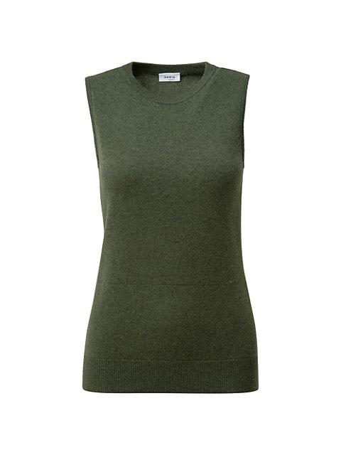 Virgin Wool & Cashmere Sleeveless Top