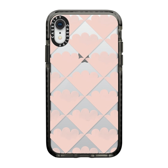 CASETiFY iPhone XR Impact Case - Scalloped Shell (w/ Transparent Background) by Ohmeed