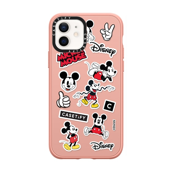 CASETiFY iPhone 12 Casetify Black Impact Resistance Case - Mickey Mania Case