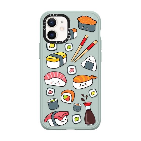 CASETiFY iPhone 12 mini Casetify Black Impact Resistance Case - SUSHI