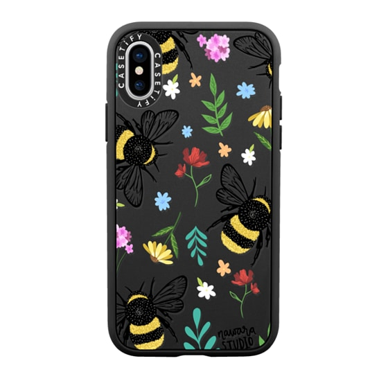 CASETiFY iPhone X Casetify Black Impact Resistance Case - Bees In Love