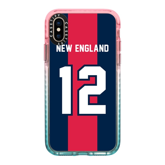 CASETiFY iPhone Xs Impact Case - Game Day - New England 6