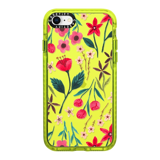 CASETiFY iPhone SE (2020) Impact Case - Red Floral