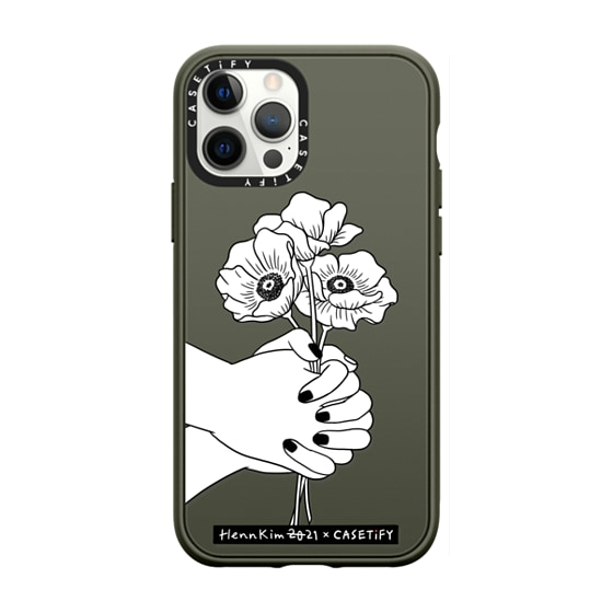 CASETiFY iPhone 12 Pro Max Casetify Black Impact Resistance Case - Contact by Henn Kim