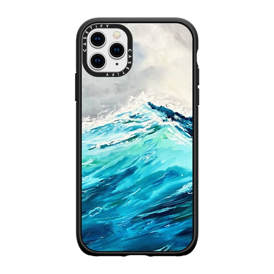 CASETiFY iPhone 11 Pro Max Casetify Black Impact Resistance Case - Rush Iphone Case By Ann Upton