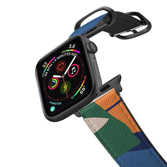 CASETiFY Apple Watch Band (38mm/40mm) Saffiano Leather Watchband V4 - New Leaf Apple Watch Band by P
