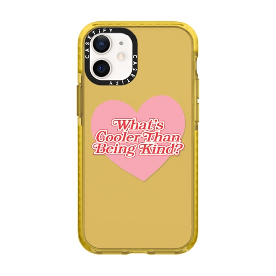 CASETiFY iPhone 12 mini Impact Case - Cooler Than Being Kind Phone Case by Quotes by Christie