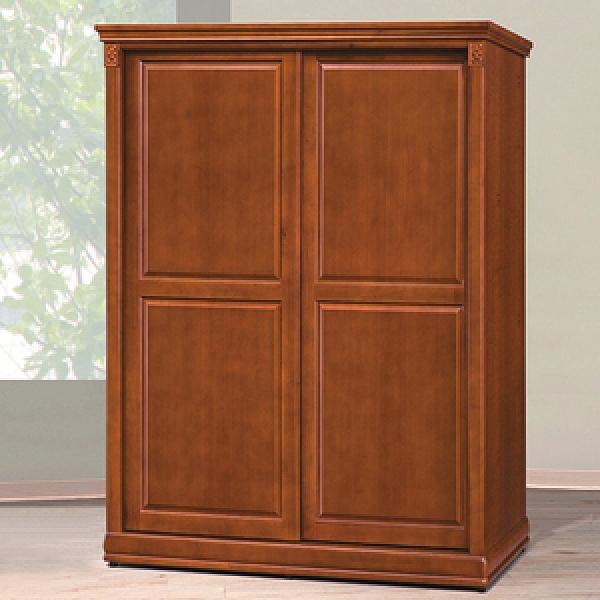 顛覆設計 德克5尺實木樟木色拉門衣櫥