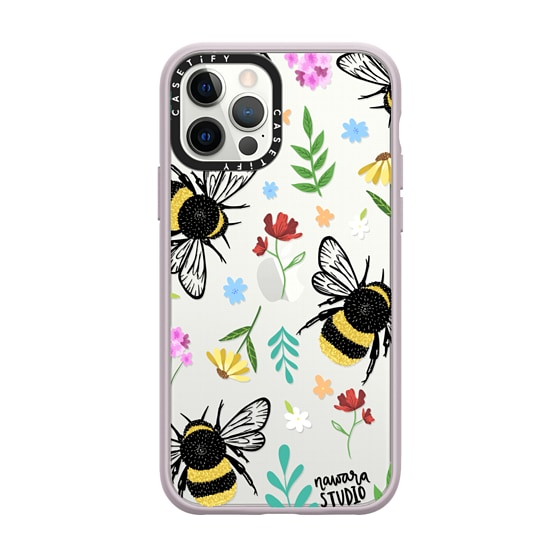 CASETiFY iPhone 12 Pro Impact Case - Bees In Love