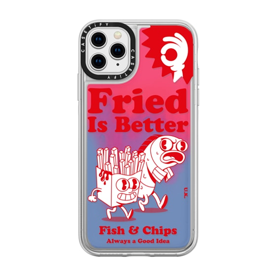 CASETiFY iPhone 11 Pro Max Neon Sand Liquid Case - Fried is Better