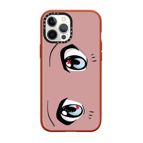 CASETiFY iPhone 12 Pro Max Impact Case - Love Eyes Boy by Careaux
