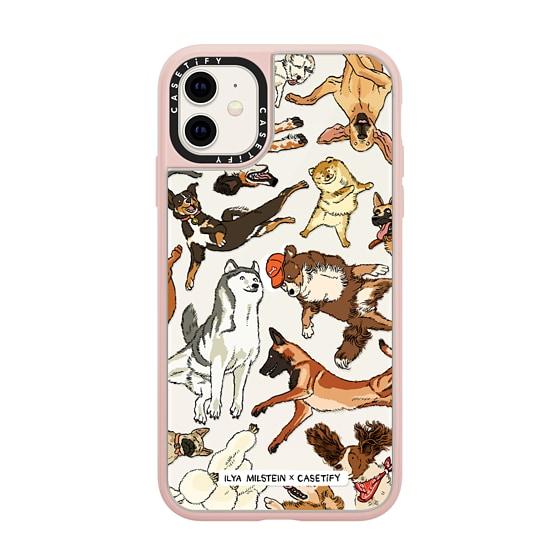 CASETiFY iPhone 11 Grip Case - Ilya Milstein - Dogs