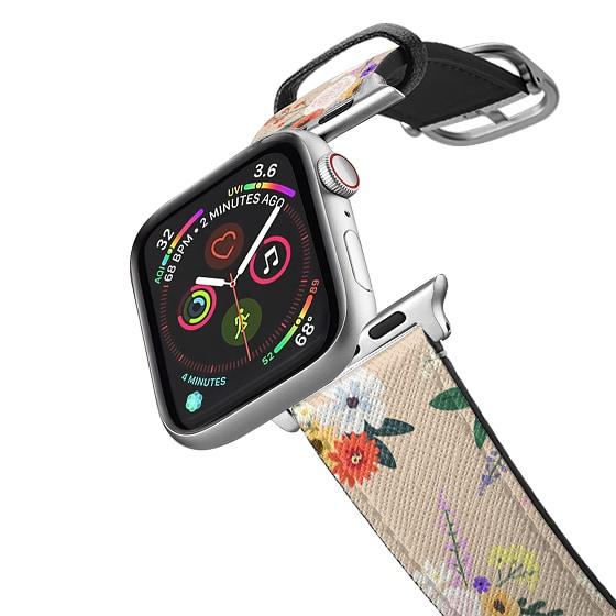 CASETiFY Apple Watch Band (38mm/40mm) Saffiano Leather Watchband V4 - ALLIE ALPINES - BEIGE