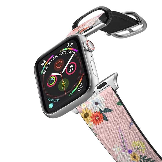 CASETiFY Apple Watch Band (38mm/40mm) Saffiano Leather Watchband V4 - ALLIE ALPINES - BLUSH